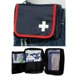 Førstehjælpssæt, rejsetaske m. indhold