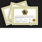 Verifikations certifikat for Kern Class III vægte